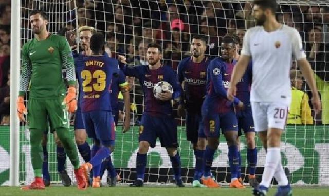 """""""Barselona"""" """"Roma""""nı darmadağın etdi - VİDEO"""