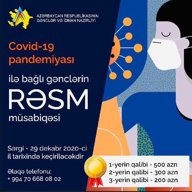 Covid-19 pandemiyası ilə bağlı rəsm müsabiqəsi