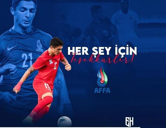"""""""Başakşəhər""""in futbolçusu millimizdən imtina etdi"""