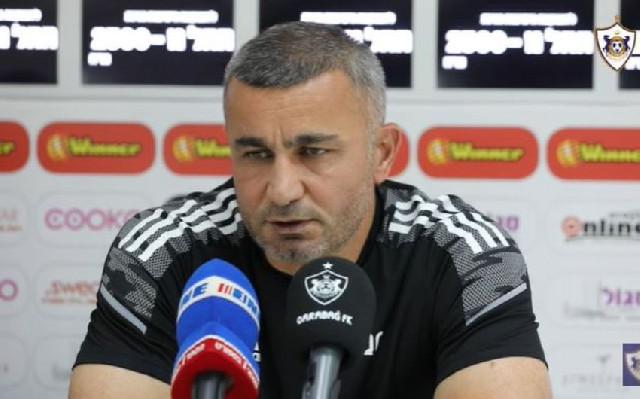 """Qurban Qurbanov: """"Futbolçular düşündüyümdən daha yaxşı oynadılar"""""""
